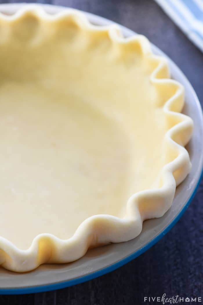 Butter Pie Crust Recipe in pan