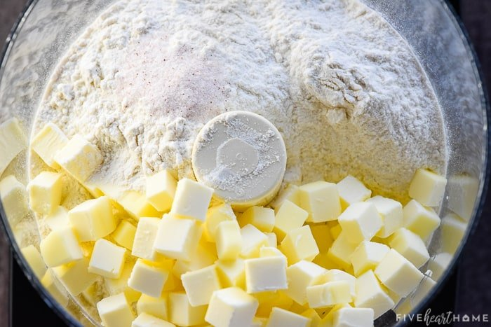 Pie Crust ingredients in food processor