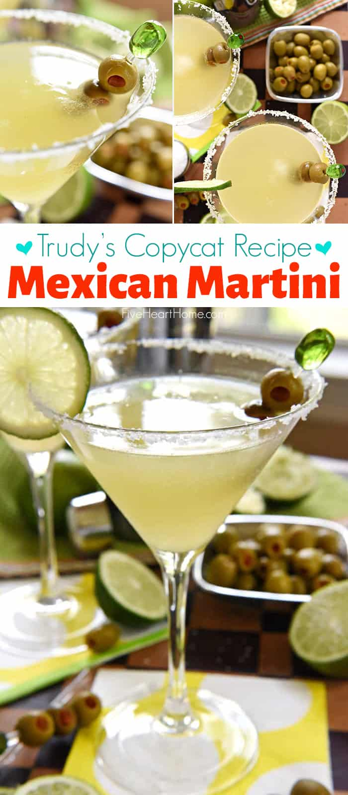 Trudy's Copycat Mexican Martini collage with text