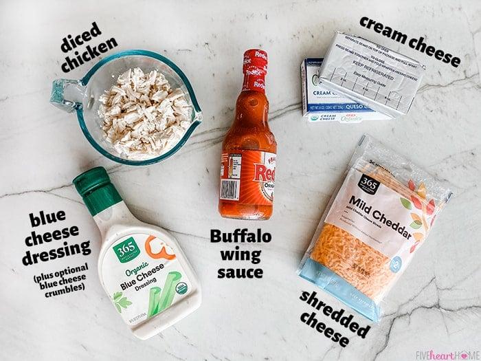Aerial photo of ingredients.