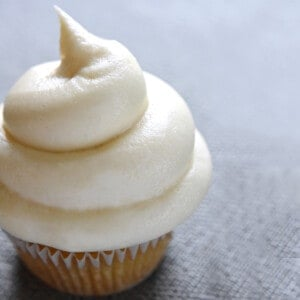 Cream Cheese Frosting on a cupcake.
