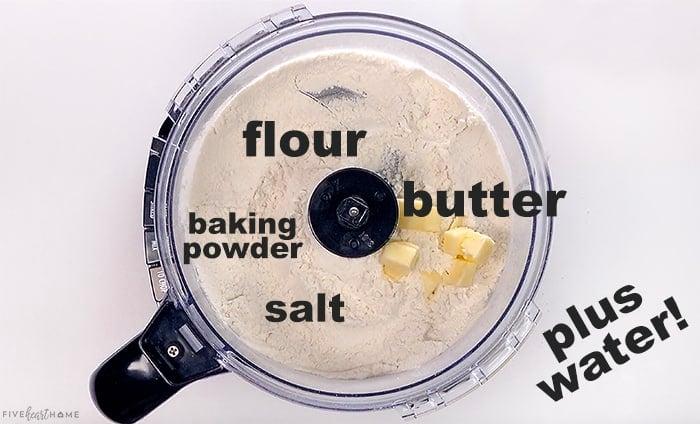 Ingredients in food processor.