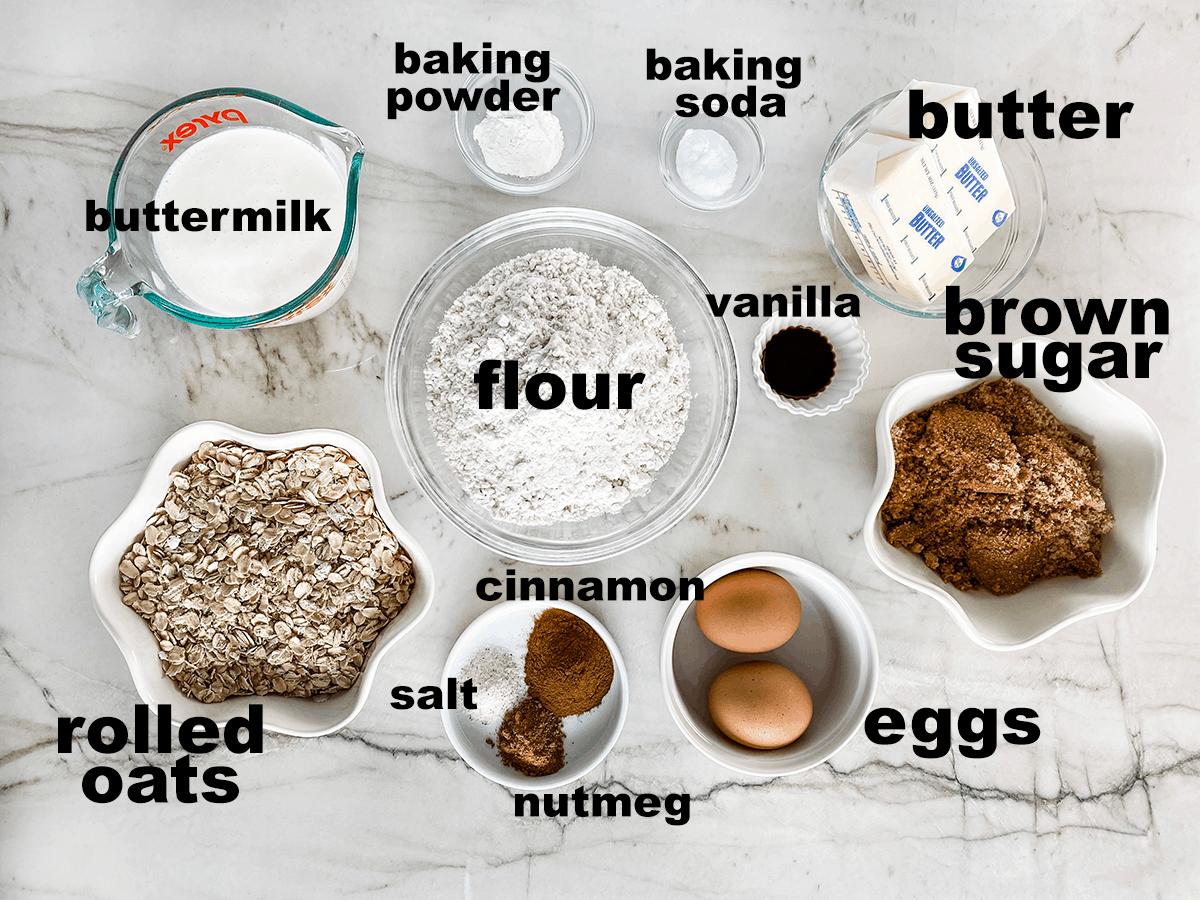 Aerial view of ingredients.