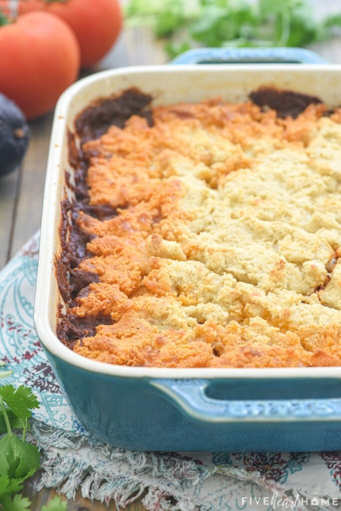 Baked Tamale Pie, fresh out of oven.